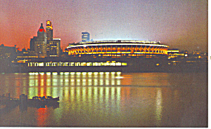 Riverfront Stadium Cincinnati  OH Postcard p17658 (Image1)