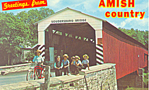 Soudersburg Covered Bridge, Lancaster, PA Postcard (Image1)