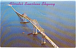 Florida Sunshine Skyway  Postcard p1769 (Image1)
