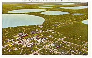 Winter Haven Florida Aerial View  Postcard p1771 (Image1)