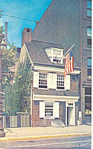 Betsy Ross House Philadelphia PA Postcard p17739 (Image1)