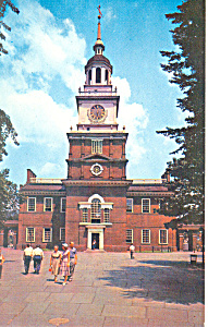 Independence Hall Philadelphia PA Postcard p17740 (Image1)