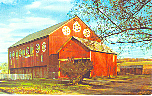 Barn With Hex Signs Pa Dutch Country Postcard P17770