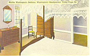 Marthas Bedroom,Valley Forge,PA Postcard (Image1)