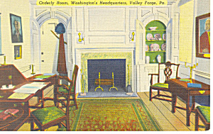Orderly Room, Valley Forge,PA Postcard (Image1)