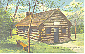 Hospital Hut,Valley Forge,PA Postcard (Image1)