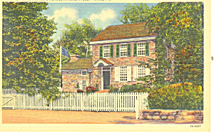 Washington s HeadquartersValley Forge PA Postcard p17799 (Image1)