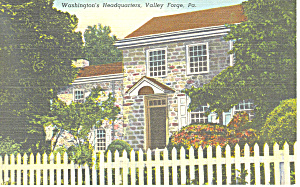 Washington s Headquarters Valley Forge PA Postcard p17800 (Image1)