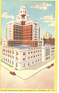 Custom House Philadelphia PA Postcard p17805 (Image1)