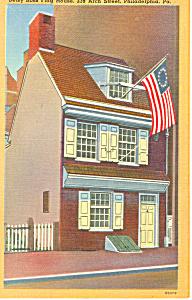 Betsy Ross House Philadelphia PA Postcard p17807 (Image1)