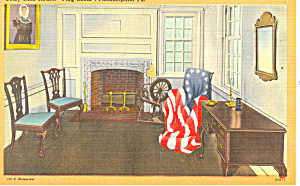 Flag Room Betsy Ross House Philadelphia PA Postcard p17808 (Image1)