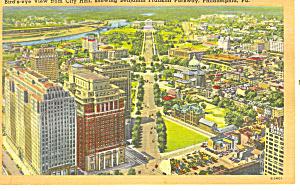 Ben Franklin Parkway Philadelphia PA Postcard p17812 (Image1)