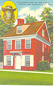William Penn Mansion Philadelphia PA Postcard p17815 (Image1)