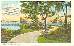 Long Park Lancaster PA Postcard p17820 1926 (Image1)