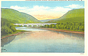 Lackawana Bridge, Delaware River, PA Postcard (Image1)