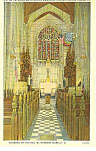 Washington Chapel Valley Forge PA Postcard p17822 (Image1)