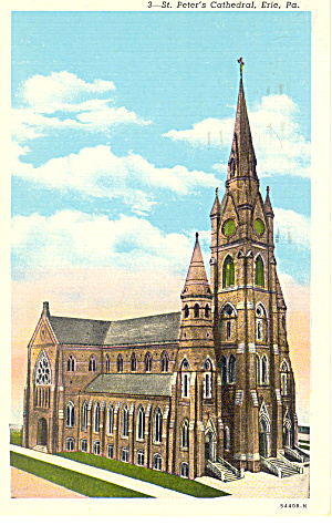 St Paul S Cathedral Erie Pa Postcard P17823
