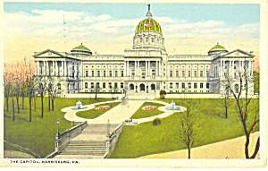 State Capitol Harrisburg, PA Postcard 1921 (Image1)