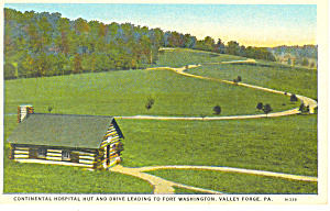 Hospital Hut, Valley Forge, PA Postcard (Image1)