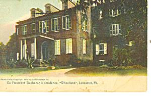 James Buchanan s Home Wheatland Lancaster PA Postcard p17836 (Image1)