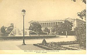 Free Library of Philadelphia PA Postcard p17838 (Image1)