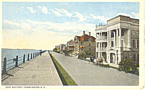 East Battery, Charleston, SC Postcard (Image1)