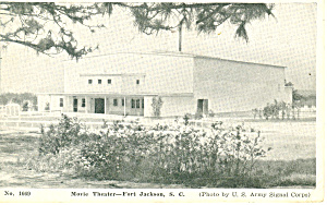 Music Theatre Fort Jackson SC Postcard 1944 (Image1)