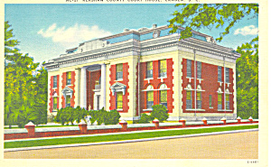 Kershaw Cty Court House, Camden Sc Postcard