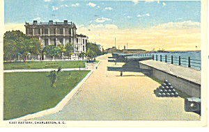 East Battery Charleston SC Postcard 1920 (Image1)