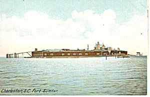 Fort Sumter Charleston SC Postcard (Image1)