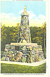 Ross Monument Custer SD  Postcard p17891 (Image1)