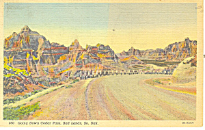 Cedar Pass,Badlands , SD  Postcard (Image1)