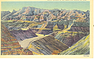 Erosion of the Ages,Badlands , SD  Postcard (Image1)
