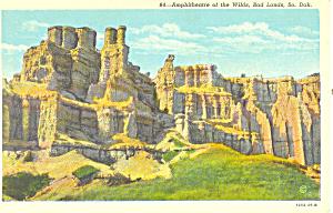 Amphitheatre,Badlands , SD  Postcard (Image1)