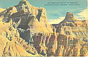 Badlands National Monument  SD  Postcard p17903 1942 (Image1)