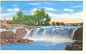 The Falls Sioux Falls  SD  Postcard p17904 (Image1)
