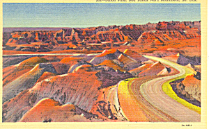 Badlands National Monument  SD  Postcard p17908 (Image1)