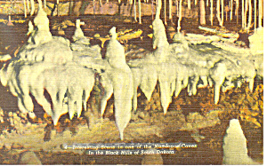 Scene in Cave Black Hills  SD  Postcard p17909 (Image1)