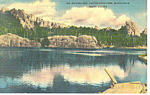 Sylvan Lake Custer State Park Sd Postcard P17912