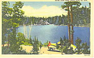 Horse Thief Lake, Black Hills , SD,  Postcard 1950 (Image1)