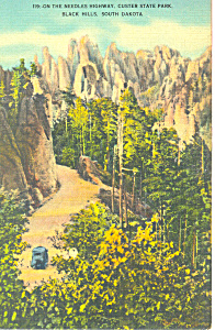 Needles Highway Custer State Park Sd Postcard P17917 1943