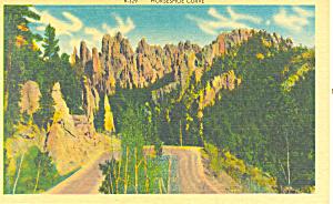 Horseshoe Curve, Black Hills , SD  Postcard (Image1)