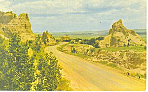 Cedar Pass Badlands National Monument  SD  Postcard p17927 (Image1)