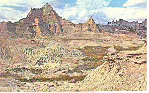 Badlands National Monument SD Postcard 1968 (Image1)