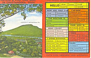 Chattanooga TN Check Off Postcard p17941 (Image1)