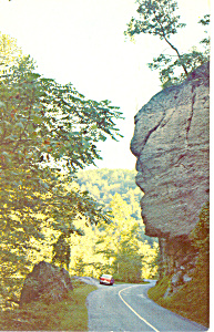 Great Stone Face Highway 12 TN Postcard p17945 1963 (Image1)