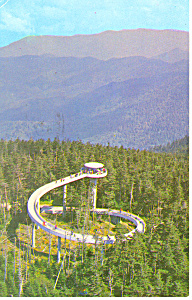Tower Clingman S Dome Smoky Mountains National Park Tn Postcard P17951 1966