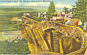 Lover s Leap Lookout Mountain TN Postcard p17967 (Image1)