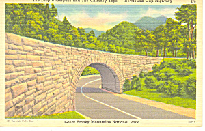 Loop Underpass Newfound Gap Smoky Mountains National Park TN Postcard p17969 (Image1)