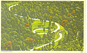The Loop on Newfound Gap Highway TN Postcard 1947 (Image1)